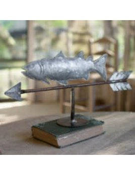 Weathervane Fish Galvanized