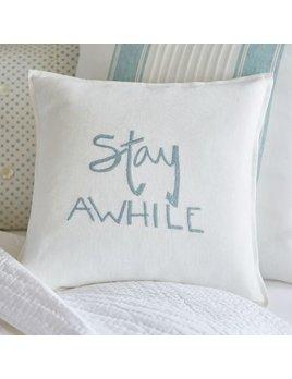 Stay Awhile Aqua Pillow