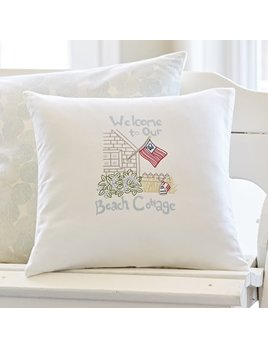 Welcome To Our Beach Cottage Pillow