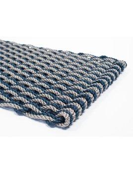 Dark Gray & Navy Doormat