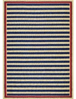 Covington Nautical Stripes Navy Red 2x4