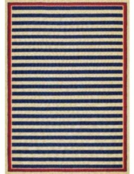 Covington Nautical Stripes Navy Red 2x4