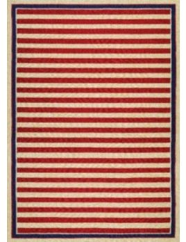 Covington Nautical Stripes Red Navy 2x4