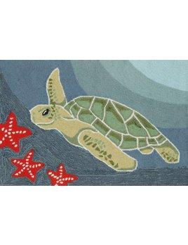 Sea Turtle Ocean Rug 24x36
