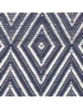 Diamond Navy White Indoor/Outdoor 4x6