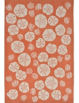 Coral Shell Toss 24x36