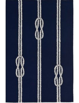 Navy Ropes Capri Rug 24x36