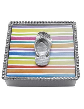 Flip Flops Beaded Napkin Box