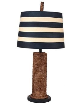 Manila Rope Spindle Lamp Staine