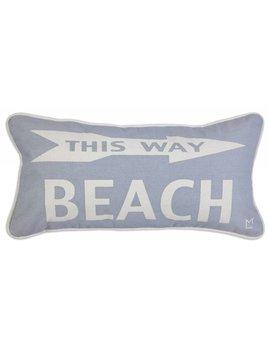 Beach This Way 12x24 Pillow