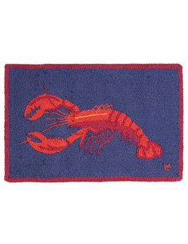 Lobsters On Blue 2x3 Rug