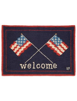 Welcome Flags 2x3 Rug