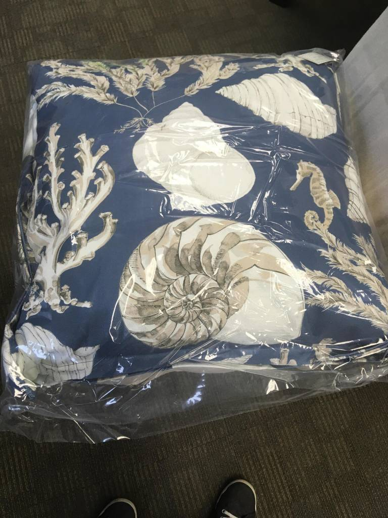 22x22 Ocean Rich Indigo Pillow