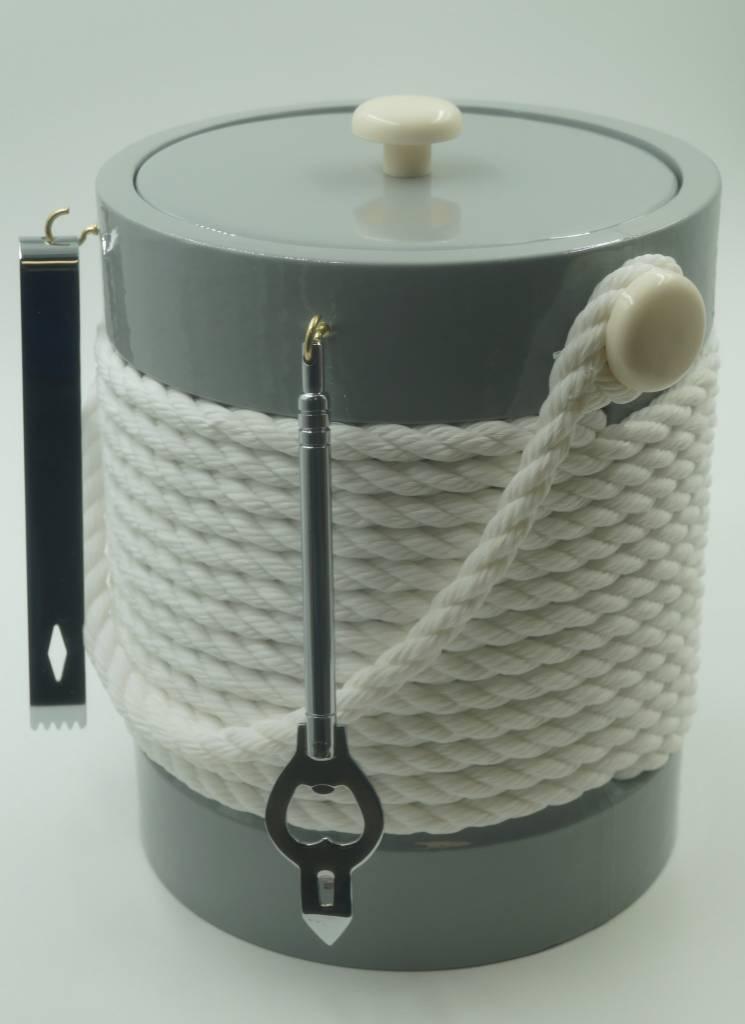 Gray White Rope  5Qt Ice Bucket