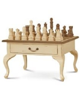 Provence Gentleman's Chess Table 2 Drawer