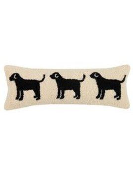 Dog Trio Pillow 8x22