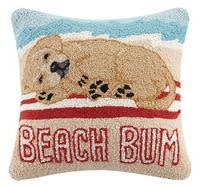 Golden Lab Beach Bum Pillow
