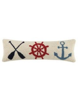 Oar Helm Anchor Pillow 8x24