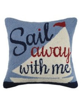 Sail Away with Me Pillow 18x18