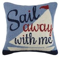 Sail Away with Me Pillow 18x18