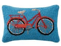 Red Bike Pillow 8x12