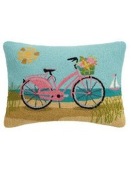 Beach Pink Bike Pillow 16x22