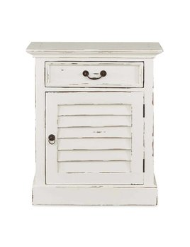 Cottage Collection  Shutter Nightstand Cabinet