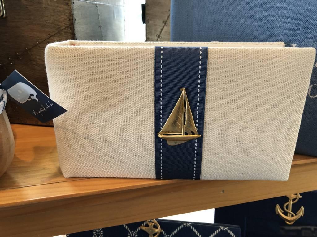 Sailboat Album with Navy Ribbon