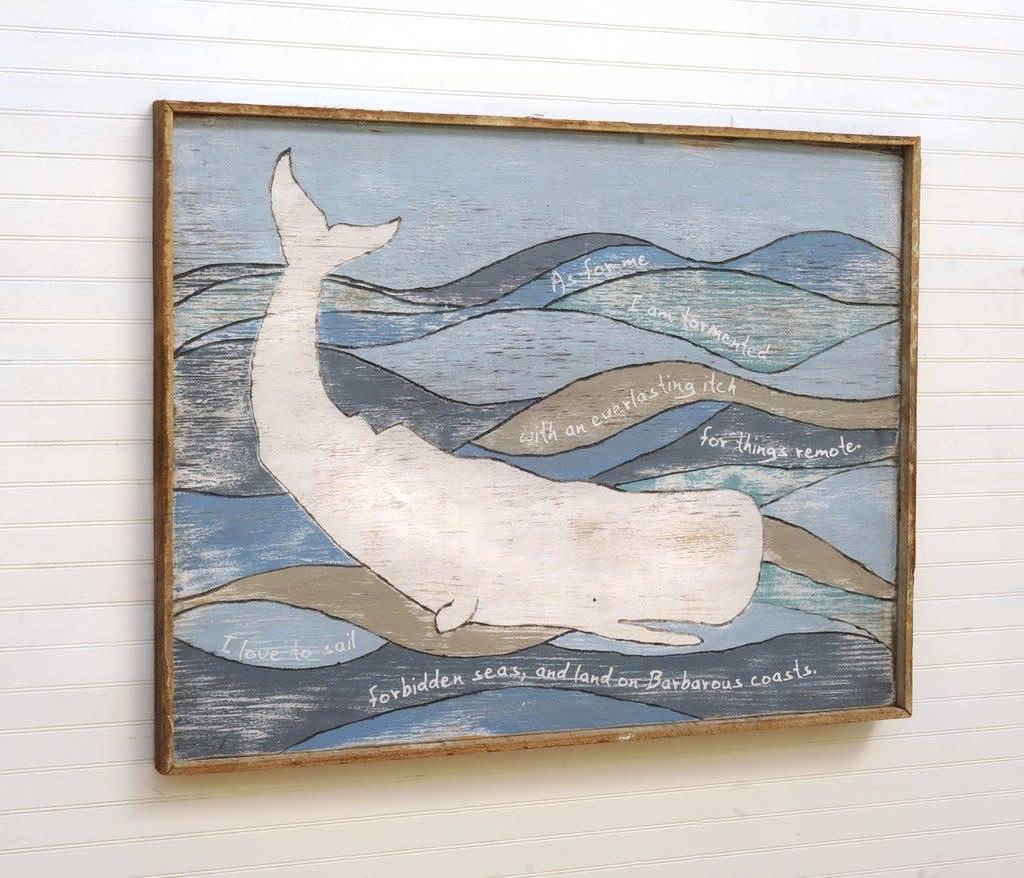 Melville Moby Framed