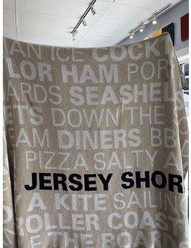 Jersey Shore Throw Flax Milk Marine