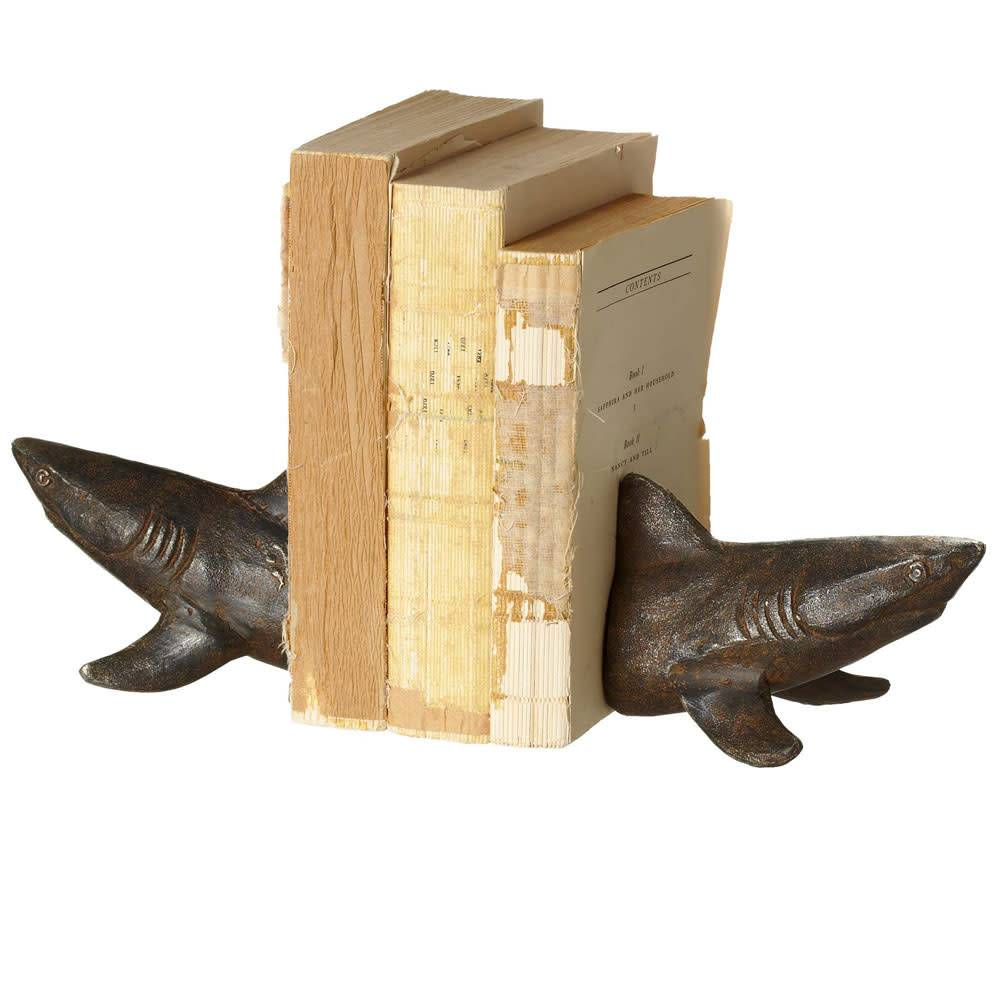 Shark Bookend Cast Iron