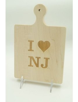 I Heart NJ Art Cutting Board 9x6