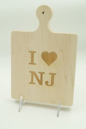 I Heart NJ Art Cutting Board 9x6