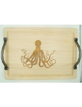 Octopus Cutting Board with Handles 20x14