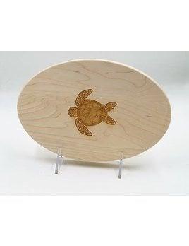 Cutting Board Turtle Oval 9x6
