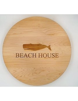 Beach House With Whale Lazy Susan 14x14
