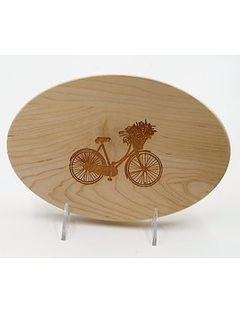 Bike Oval 9x6 Cutting Board