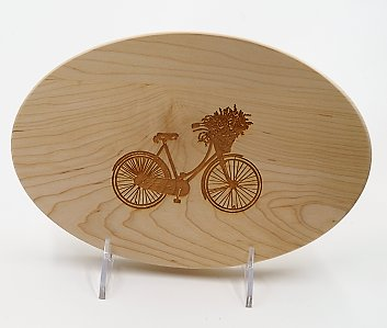 Cutting Board Bike Oval 9x6