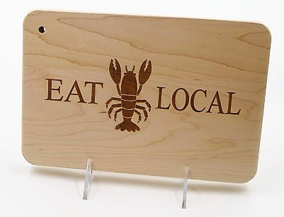 Cutting Board Eat Local Lobster RE 9x6