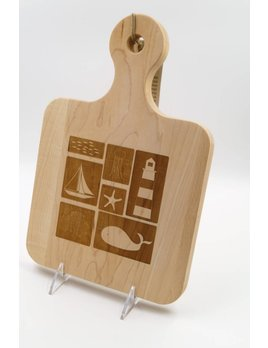 Whale Lighthouse Cutting Board 12x8