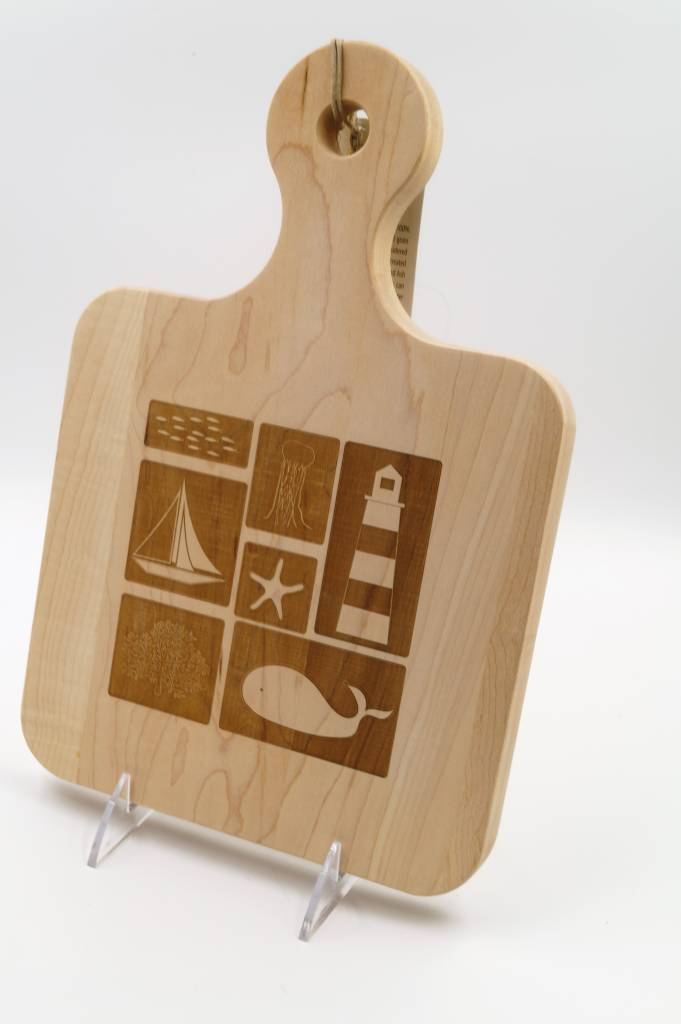 Cutting Board Whale Lighthouse 12x8