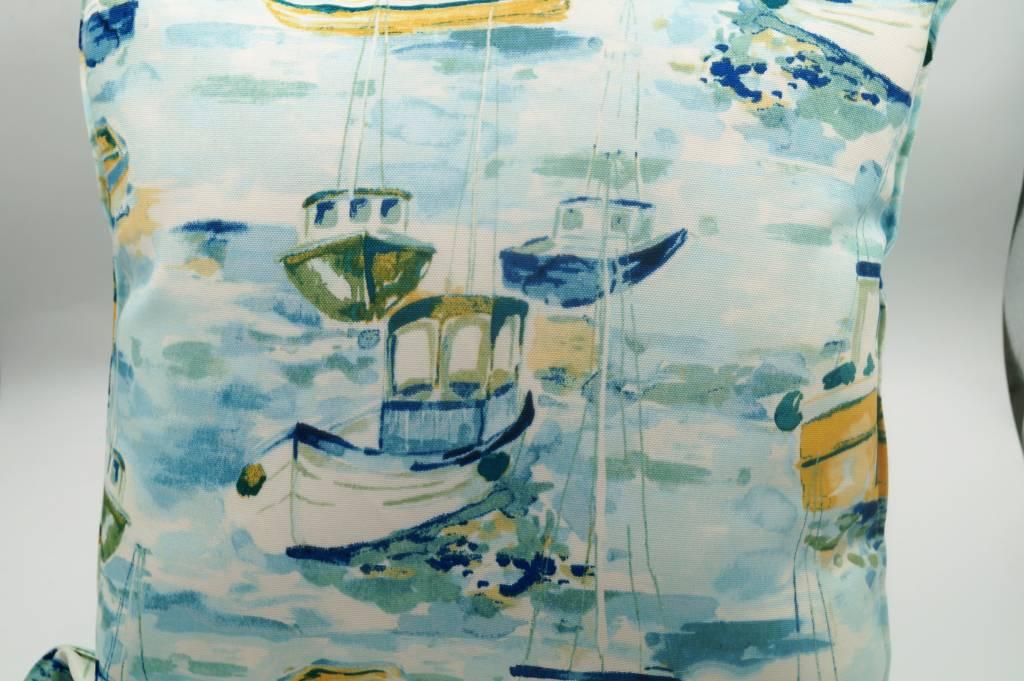 Fishing Boats 17x17 Pillow