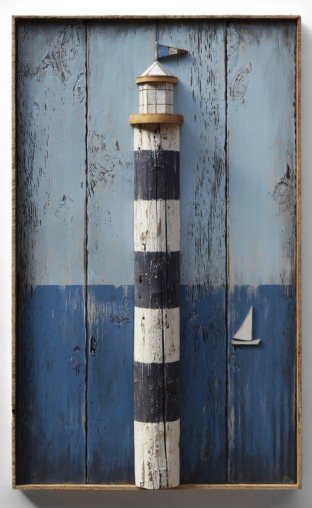 Lighthouse Barnwood Red and Oyster White