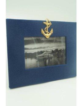 Navy Anchor Frame 4x6 Horizontal