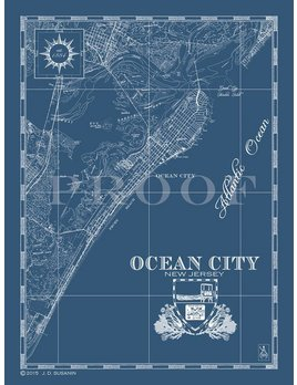 Small Ocean City Print 25x19