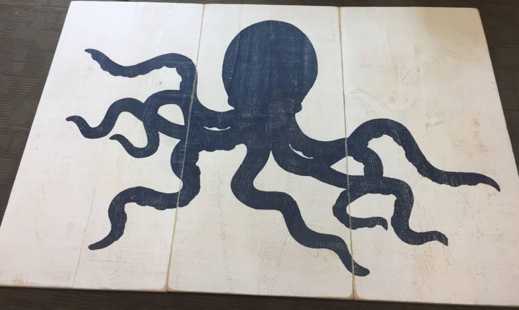 3 panel Octopus Indigo Streamer 4x6ft