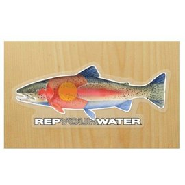 Rep Your Water Rep Your Water Sticker - Rainbow Trout
