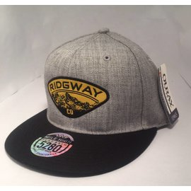 Ridgway Mile High 5280 Flat Brim Cap - Heather Gray/Black