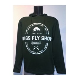 RIGS Drifter Hooded T-Shirt - Hunter Green