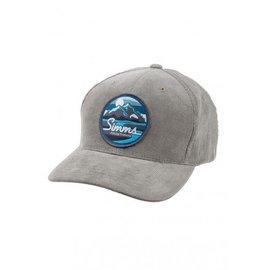 Simms Fishing Simms Cordoroy Classic Baseball Cap - Mountains and Stream - Charcoal